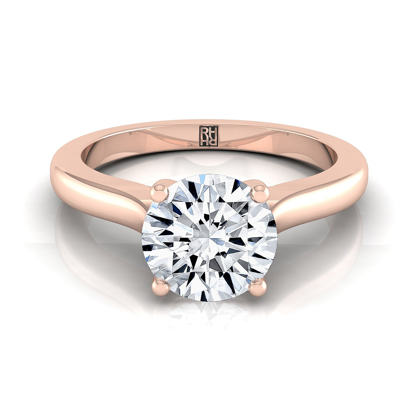 image j reeds sku signature exclusive ring solitaire of diamond with classic color engagement round rounded