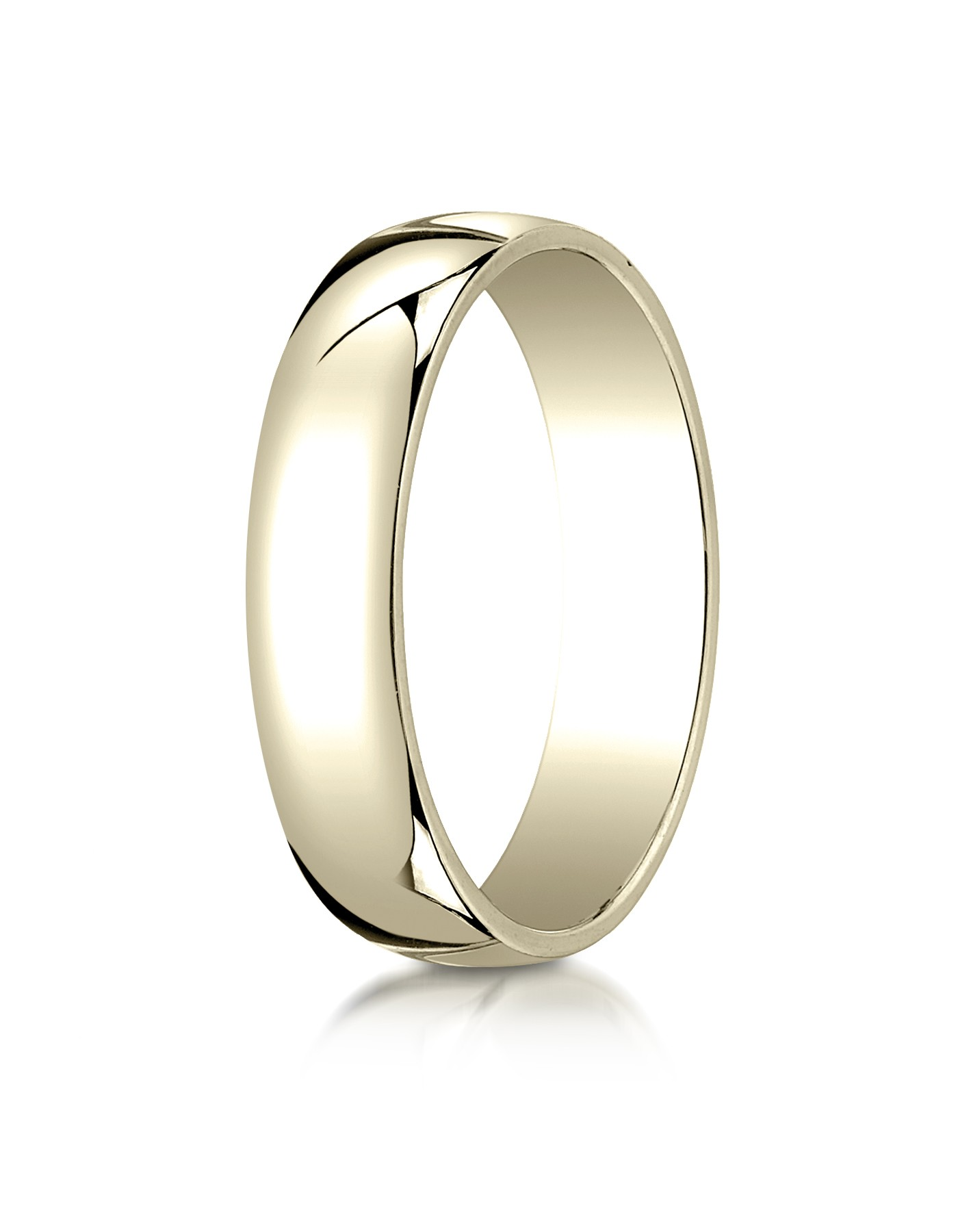14k Yellow Gold 5mm Low Dome Light Ring