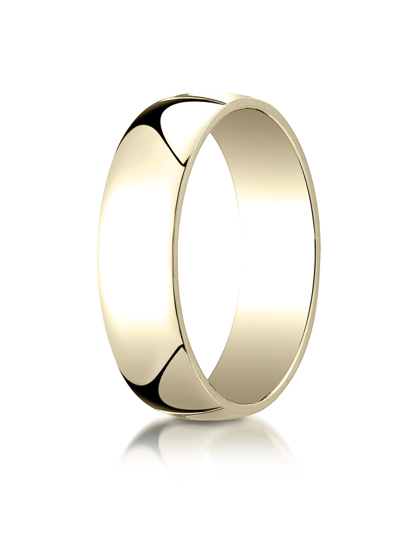 14k Yellow Gold 6mm Low Dome Light Ring