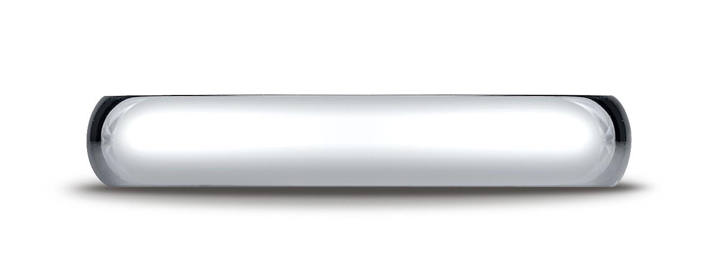 14k White Gold 4mm Slightly Domed Standard Comfort-fit Ring