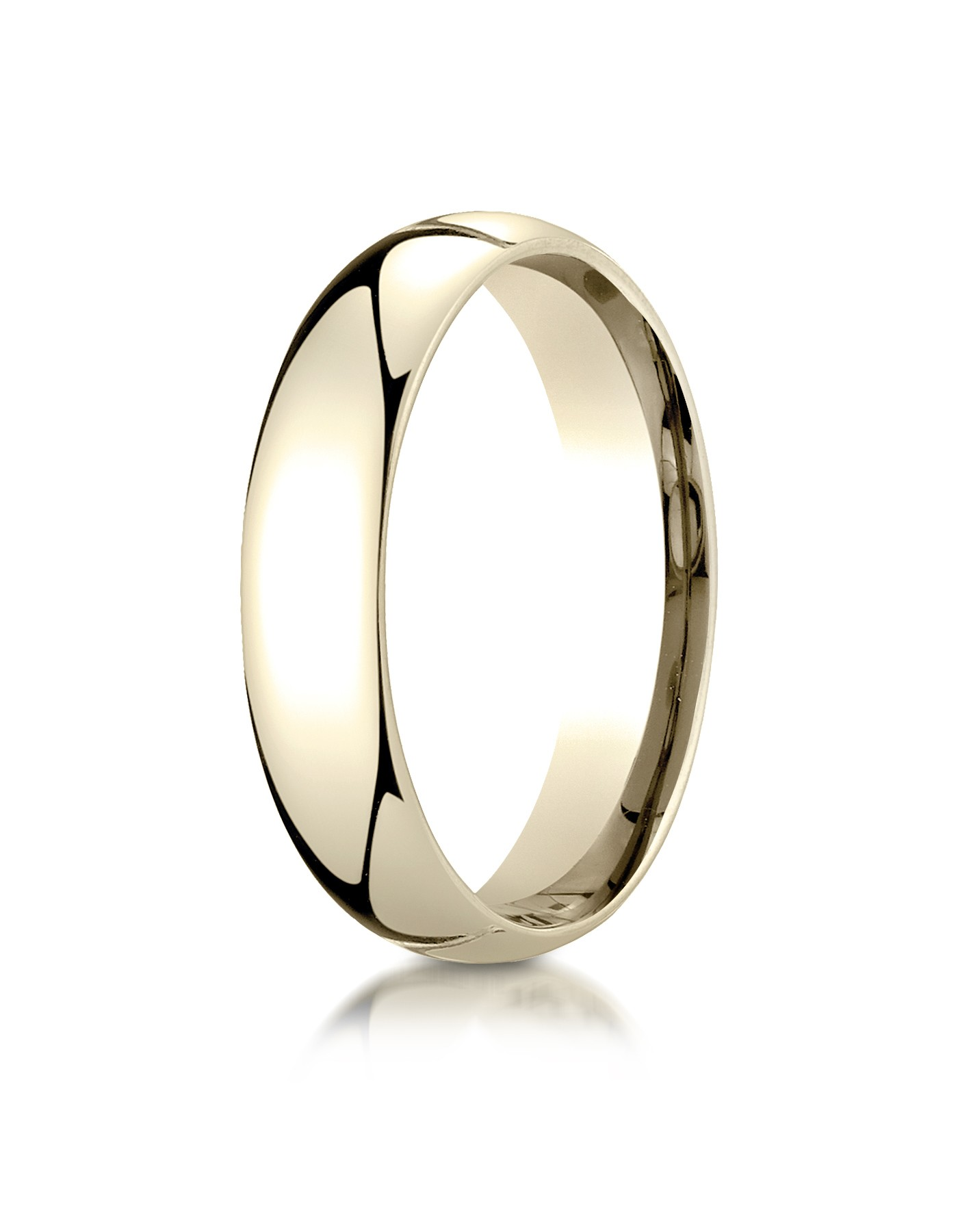 14k Yellow Gold 5mm Slightly Domed Standard Comfort-fit Ring