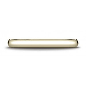 14k Yellow Gold 2.5 Mm Slightly Domed Traditional Oval Ring