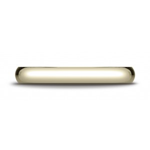 18k Yellow Gold 3mm Slightly Domed Traditional Oval Ring