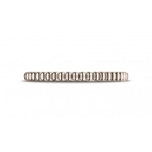14k Rose Gold 2mm Gear Cut Design Band