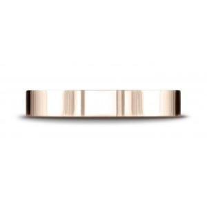 14k Rose Gold 4mm Flat Comfort-fit Ring