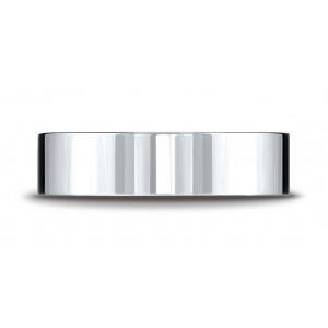 Platinum 6mm Flat Comfort-fit Ring