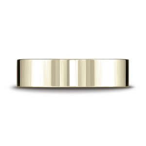 18k Yellow Gold 6mm Flat Comfort-fit Ring