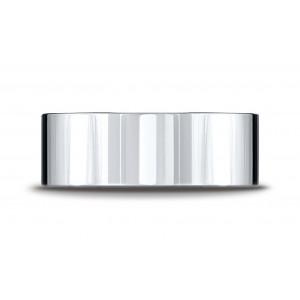 Platinum 8mm Flat Comfort-fit Ring