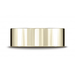 18k Yellow Gold 8mm Flat Comfort-fit Ring