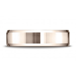 14k Rose Gold 6mm Comfort-fit High Polished Carved Design Band