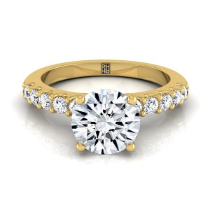 Shared Prong Diamond Engagement Ring In 14k Yellow Gold (1/3 Ct.tw.)