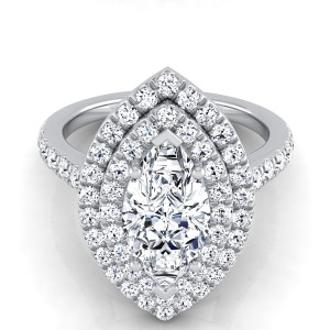 Marquise Diamond Double Halo Engagement Ring In 14k White Gold (4/5 Ct.tw.)