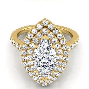 Marquise Diamond Double Halo Engagement Ring In 18k Yellow Gold (4/5 Ct.tw.)