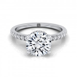 Classic Petite Split Prong  Diamond Engagement Ring In 14k White Gold (1/3 Ct.tw.)