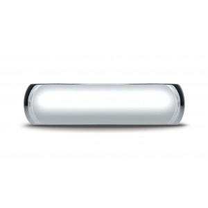 Platinum 6mm Slightly Domed Standard Comfort-fit Ring