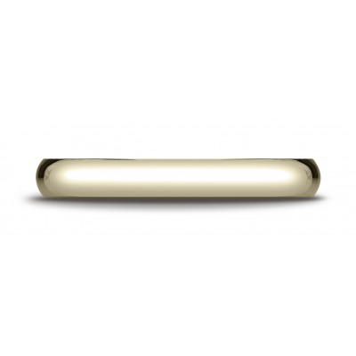 14k Yellow Gold 3mm Slightly Domed Traditional Oval Ring