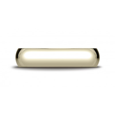 18k Yellow Gold 5mm Slightly Domed Traditional Oval Ring