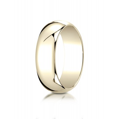 14k Yellow Gold 7mm Slightly Domed Traditional Oval Ring