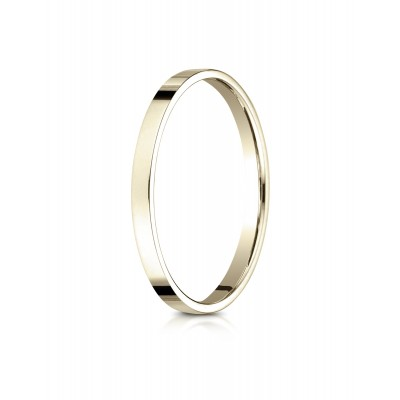 14k Yellow Gold 2.0 Mm Traditional Flat Ring