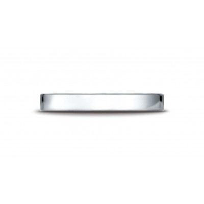 14k White Gold 3 Mm Traditional Flat Ring