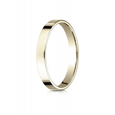 14k Yellow Gold 3 Mm Traditional Flat Ring