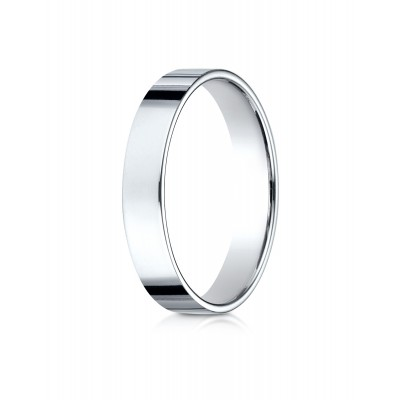 14k White Gold 4.0 Mm Traditional Flat Ring