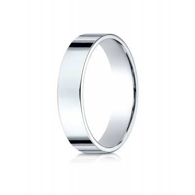 14k White Gold 5 Mm Traditional Flat Ring