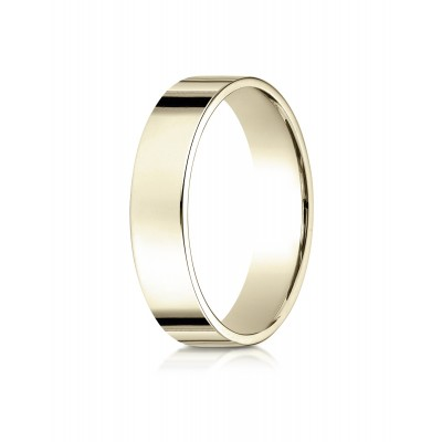 14k Yellow Gold 5 Mm Traditional Flat Ring