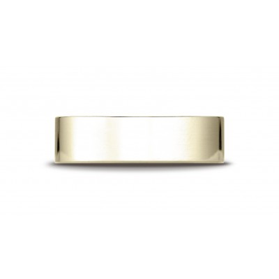 14k Yellow Gold 6 Mm Traditional Flat Ring