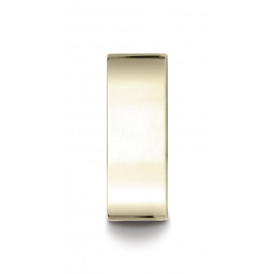 14k Yellow Gold 8 Mm Traditional Flat Ring
