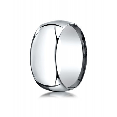 14k White Gold 10mm High Dome Comfort-fit Ring