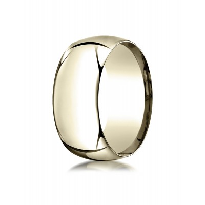 14k Yellow Gold 10mm High Dome Comfort-fit Ring