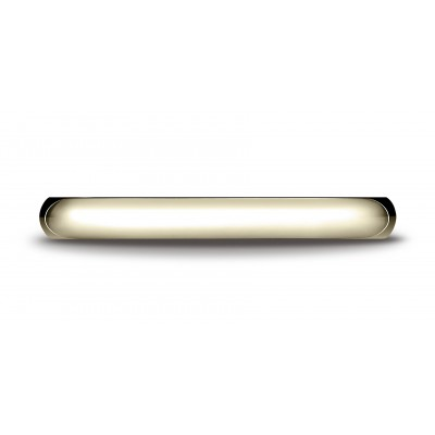 14k Yellow Gold 3mm High Dome Comfort-fit Ring