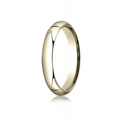 18k Yellow Gold 4mm High Dome Comfort-fit Ring
