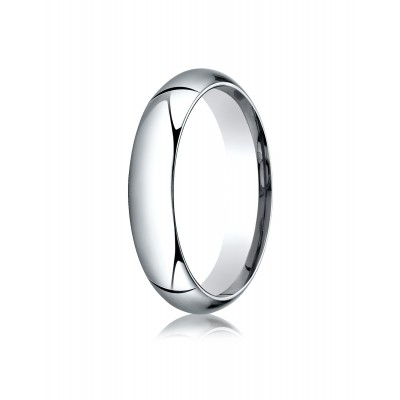14k White Gold 5mm High Dome Comfort-fit Ring