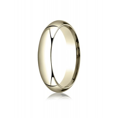 14k Yellow Gold 5mm High Dome Comfort-fit Ring