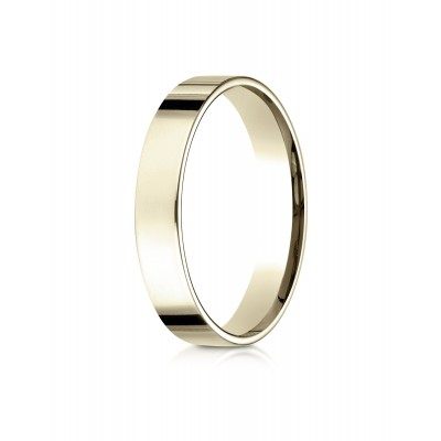 18k Yellow Gold 4mm Flat Comfort-fit Ring