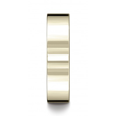 14k Yellow Gold 6mm Flat Comfort-fit Ring