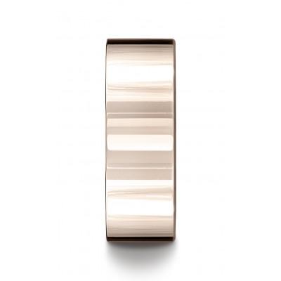 14k Rose Gold 8mm Flat Comfort-fit Ring