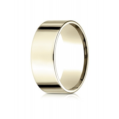 14k Yellow Gold 8mm Flat Comfort-fit Ring