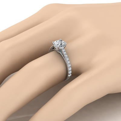 Classic 4 Prong Diamond Engagement Ring In 14k White Gold (1/4 Ct.tw.)