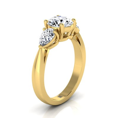 3 Stone Engagement Ring In 14k Yellow Gold (1 Ct.tw.)