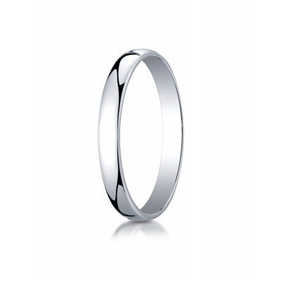 14k White Gold 3mm Low Dome Light Ring