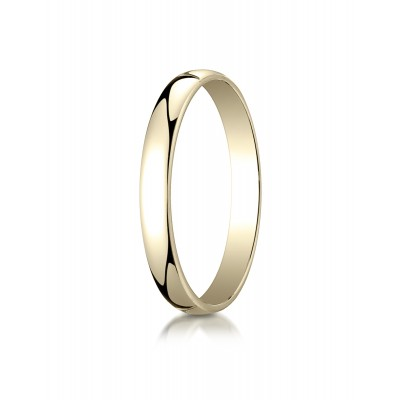 14k Yellow Gold 3mm Low Dome Light Ring