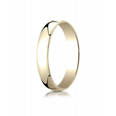 14k Yellow Gold 4mm Low Dome Light Ring