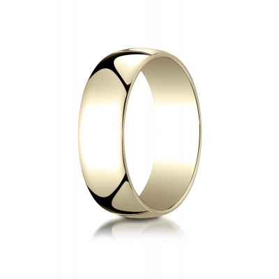 14k Yellow Gold 7mm Low Dome Light Ring