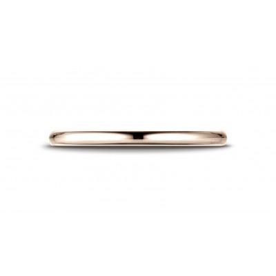14k Rose Gold 2 Mm Slightly Domed Standard Comfort-fit Ring