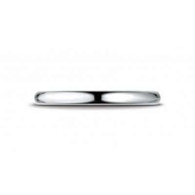 14k White Gold 2.5 Mm Slightly Domed Standard Comfort-fit Ring