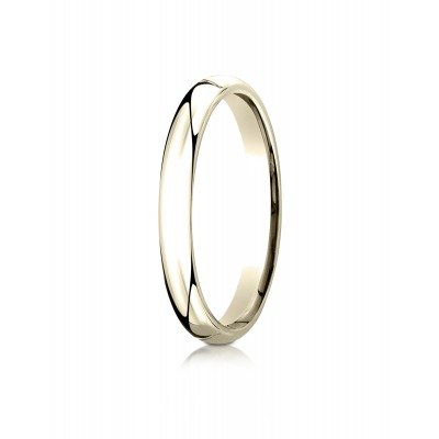 18k Yellow Gold 3mm Slightly Domed Standard Comfort-fit Ring