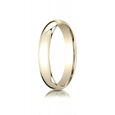 18k Yellow Gold 4mm Slightly Domed Standard Comfort-fit Ring
